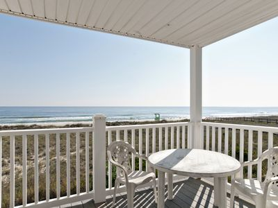 Photo for Walk to the boardwalk from your oceanfront condo with private beach access