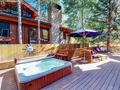 Photo for NEW LISTING! Creekside home w/ hot tub, deck & mountain view - 1 mile to lifts