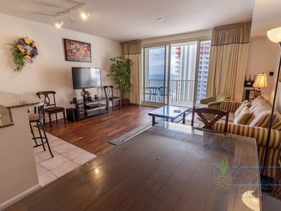 Photo for 17th Flr 2Bd Sleeps 8.  All Tile, Sunset View, and Reserved Parking Space.