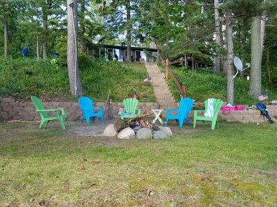 Campfire area near the water