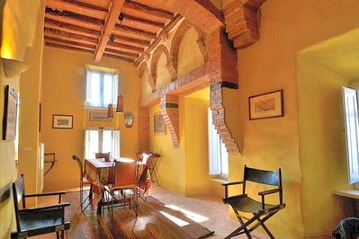 Dining room among medieval walls!