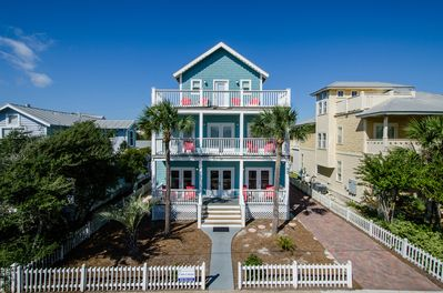 Beautiful home on Cobia St, 3 stories, original Crystal Beach cottage charm.