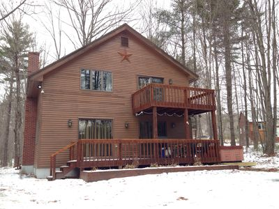 Our Home in Winter (with new hot tub)