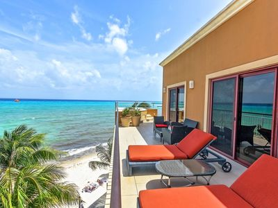 Photo for Beachfront Oceanview Penthouse At El Faro - Surf 408