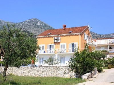 Photo for Two bedroom apartment with balcony and sea view Slano, Dubrovnik (A-3184-a)