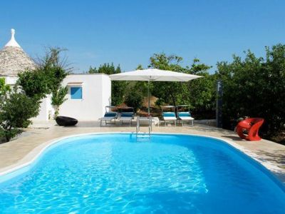 Photo for Stunning Contemporary Trulli with Pool