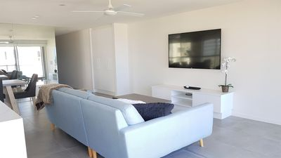 Photo for Stunning Penthouse, Wi-Fi, Air-Con, 2 Levels, Huge Balcony, Ocean Views