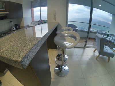 Photo for Awesome views from cozy apartment in 15th floor in poblado