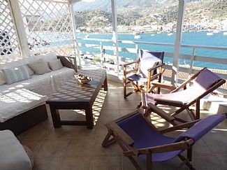 Photo for Restored Stone house overlooking Poros harbour. Panoramic Views. WIFI  Sat TV