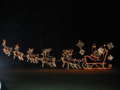 Walk to nationally renowned Festival of Lights at Oglebay Park
