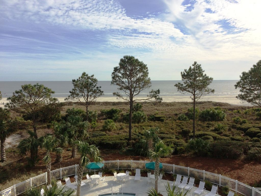 1 Bedroom 1 Bathroom Oceanfront Flat At Ocean Dunes Villas Forest Beach Hilton Head South