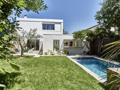 Photo for Montpellier center, house with secured swiming pool
