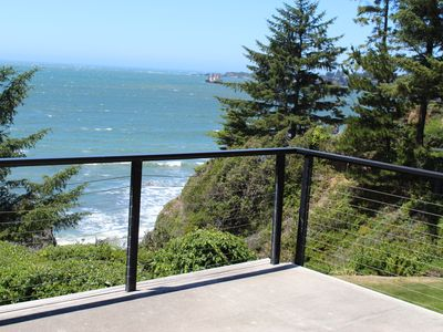 Photo for Pacific Edge Oceanfront Luxury Home with staircase to secluded sandy beach