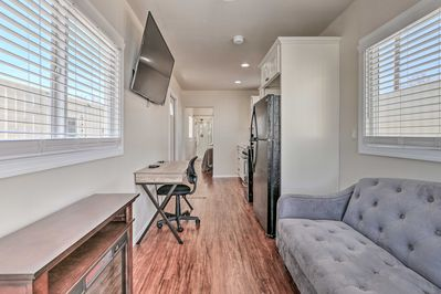 This vacation rental is an ideal destination for exploring the Eagar area.