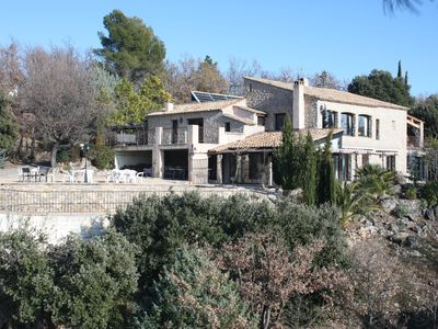 Photo for Charming stone villa with heated pool all year round