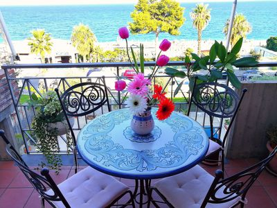 Photo for Taormina by the sea, Casa Zaffiro (sea at 10 meters - private parking)