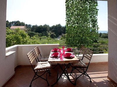 Photo for Two bedroom apartment with terrace and sea view Stari Grad, Hvar (A-4015-a)