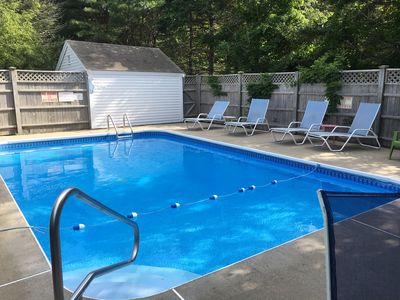 Heated Pool, 5 Bdrm, 3 Sitting Rooms, 2 Porches, 2 Patios, Ample Parking    West Dennis
