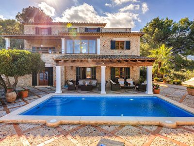 Photo for Charming Stone House with Pool and Mountain View - Villa Can Winando