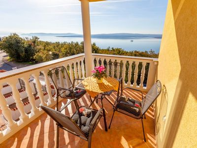 Photo for One bedroom apartment with wonderful sea view - Vila Oleander