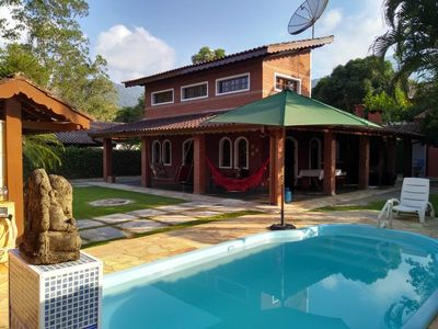 Photo for HOUSE WITH SWIMMING POOL PARADISE WI-FI 4 BEDROOMS 3 WC, ITAMAMBUCA PROX DO MAR