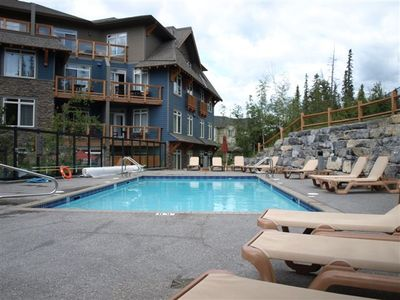 Outdoor heated pool and hot tubs.