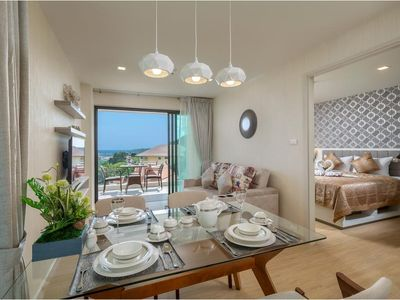 Photo for 2 bedrooms penthouse with private pool and sea view