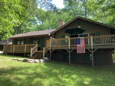 Beautiful Northwoods Home with Lakefront Views and Spectacular Shoreline