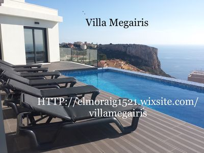 Photo for Modern villa with private access with private pool offering nice sea view