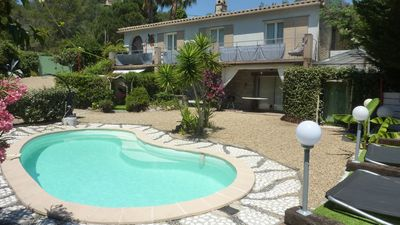 Photo for Superb villa 300 m from Gigaro beach tel 0682729500