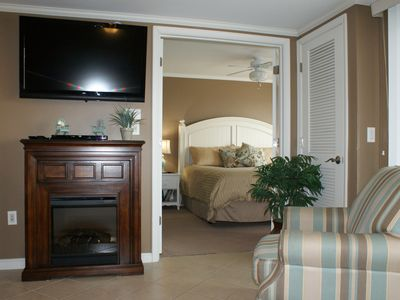Photo for Bay Front Condo w/ Pool One Block from the Beach!