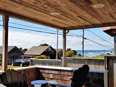 Photo for Amazing Master view suite, one house from oceanfront, large covered porch