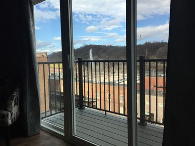 Photo for BEST LOCATION Downtown Lynchburg, Brand New 1BR, Pet Friendly, Riverview Deck
