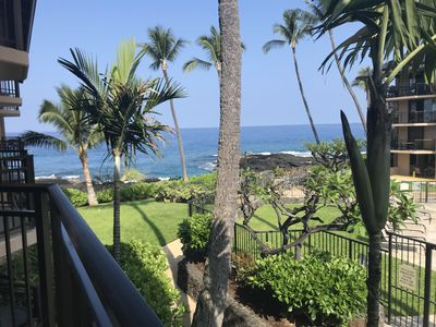 Photo for Completely remodeled,  2 bedroom Ocean Front Building 1 at Kona Makai.