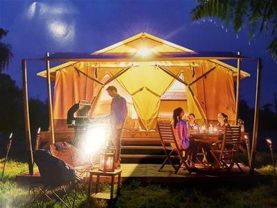 Photo for Camping Sole *** - Tent Lodge Victoria 3 rooms 2/5 people