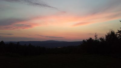 Night time sunset on the Mountain.
