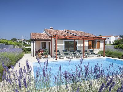 Photo for Stylish villa ****, pool, 2.5 km from the sea, barbecue, WiFi, free Wi-Fi