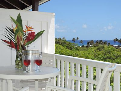 Photo for Kiahuna Plantation partial ocean view,top floor,4 min walk to beach+fitness+pool