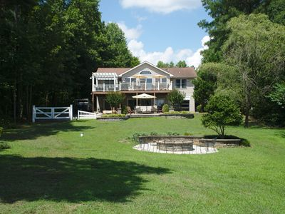Photo for Experience luxury on lake Anna at this beautiful lake front home.