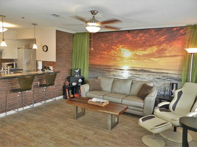 relax in our updated & spacious condo