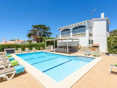 Photo for 7 bedroom Villa, sleeps 15 in Binibèquer Vell with Pool and WiFi