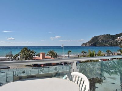 Photo for Apt. Poniente - First line beach with terrace in La Herradura