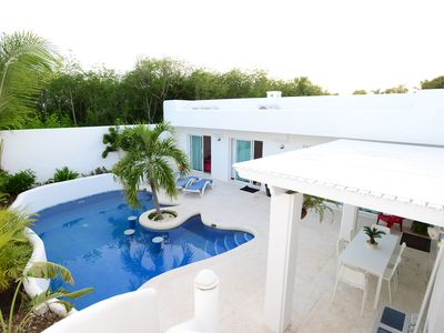 Photo for HOUSE OF 300Ms 3 ROOMS 70 M FROM THE BEACH WITH POOL