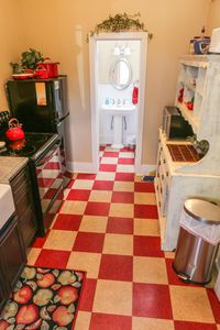 Fully appointed vintage kitchen