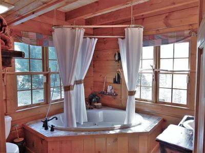 Photo for Romantic Log Home with Firepit! The Enchanted - Carolina Properties