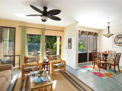 "Photo for Poipu Vacation Rentals Tropical Garden ""A/C Master & Guest bedroom""*Kahala 914*"