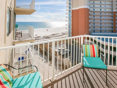Beachfront 2BR w/ Private 6th-Floor Balcony, Gulf Views & Pool
