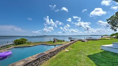 Photo for NEW LISTING - Spectacular Waterfront Property w/ Dock, 200' Beachfront & Gunite Pool