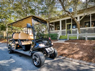 Photo for Pet - Friendly 3 Bedroom Park District Cottage With 6 Passenger Electric Cart