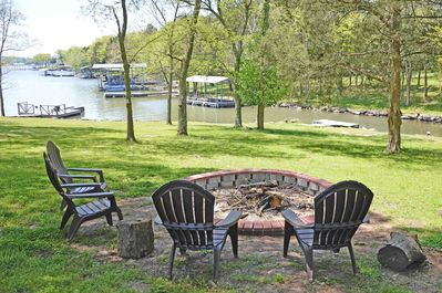 The view of the cove from the fire pit.